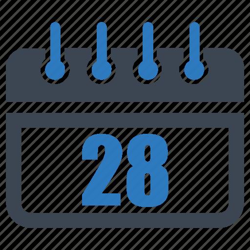 calender, date, reminder, schedule, twenty eight icon