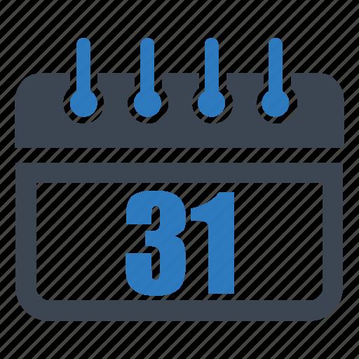 calendar, date, day, reminder, schedule, thirty first icon