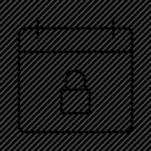app, calendar, interface, lock, software, ui, ux icon
