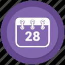 calendar, date, multimedia, schedule icon
