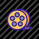 california, contour, movie, silhouette, video icon