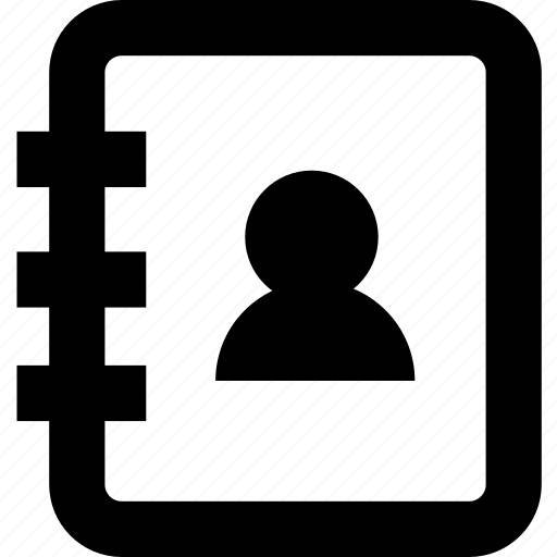address, contact person book icon
