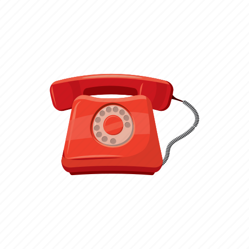 call, cartoon, device, phone, ring, support, telephone icon