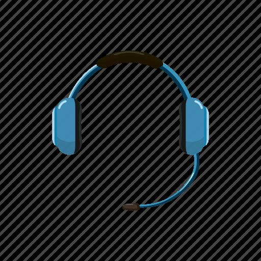 Cartoon Headphone Headset Microphone Phone Speaker Support Icon