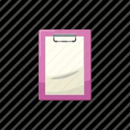 blank, cartoon, clipboard, document, line, office, paper icon