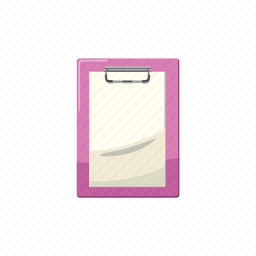 blank, cartoon, clipboard, document, line, office, paper icon