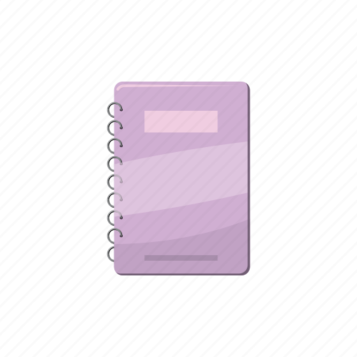 blank, cartoon, empty, notebook, page, paper, spiral icon