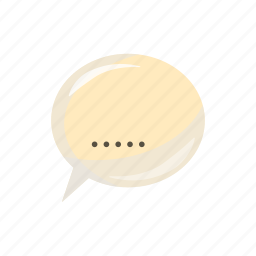 bubble, cartoon, chat, communication, dot, oval, speak icon