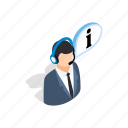 consultant, headphone, help, isometric, microphone, phone, talking icon