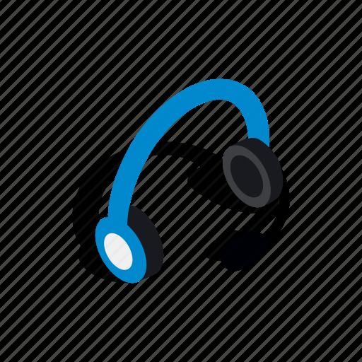 headphones, isometric, listen, microphone, sound, stereo, technology icon