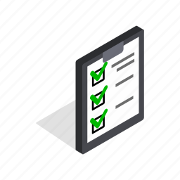 business, data, executed, information, isometric, paper, plan icon