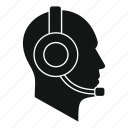 headset, male, man, object, operator, service, telephone icon