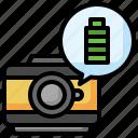 full, battery, level, photo, camera, technology