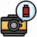 low, battery, level, photo, camera, technology