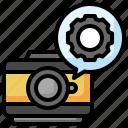 setting, gear, adjust, setup, camera