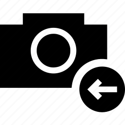 arrow, camera, image, left, photo, picture icon