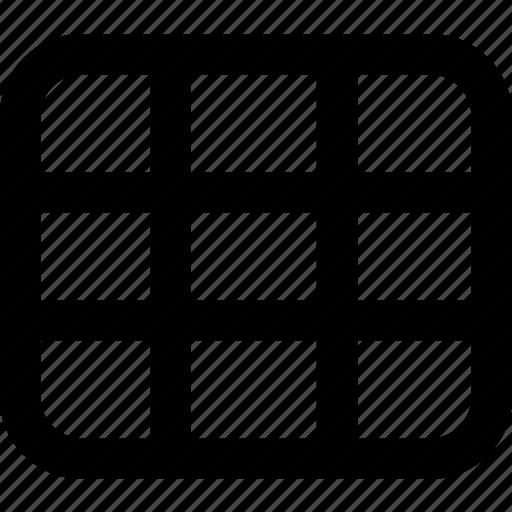 camera, grids, screen icon