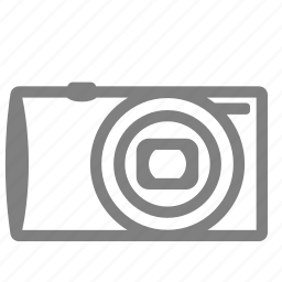 camera, compact, front, small, view icon
