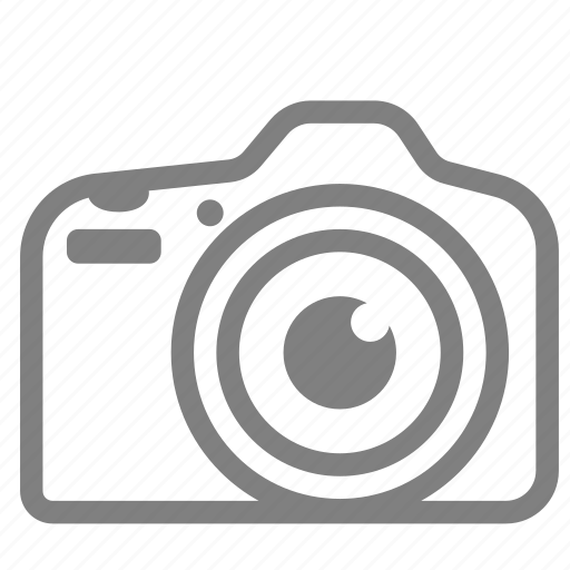 camera, dslr, front, view icon