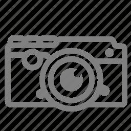 camera, film, front, old, retro, view, vintage icon