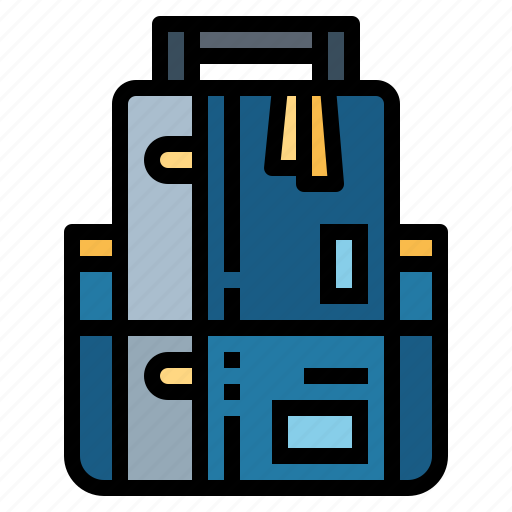 backpack, bag, camera, luggage icon