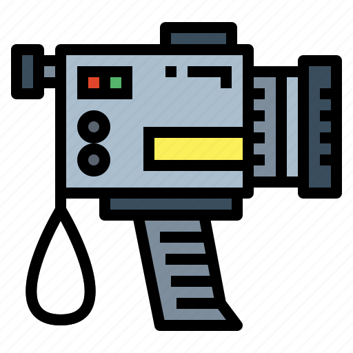 camcorder, film, technology, video, vintage icon