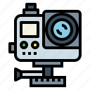 camera, gopro, technology, travel icon
