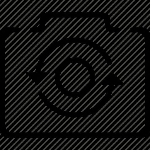 camera, image, photo, rotation icon