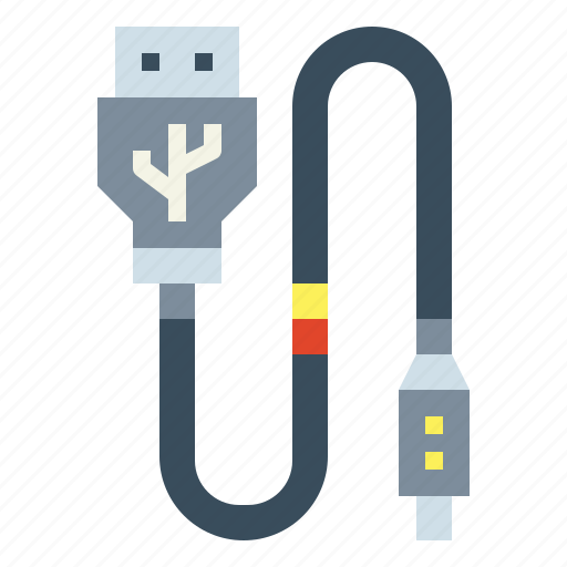 cable, connection, electronics, technology, usb icon