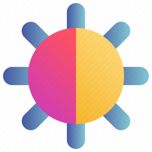 brightness, control, level, light, setting icon