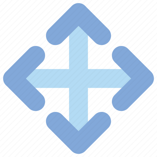 arrows, direction, reshape, scale icon