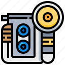 camera, dslr, flash, photo, photography, vintage icon