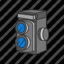 camera, dslr, fim camera, optical instrument, photographic film, photography, pro dslr icon
