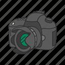camera, dslr, optical instrument, photography, pro dslr, travel icon
