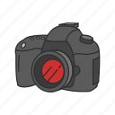 camera, digital slr, dslr, optical instrument, photography, pro dslr icon