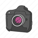 camera, dslr, optical instrument, photography, picture, pro dslr icon
