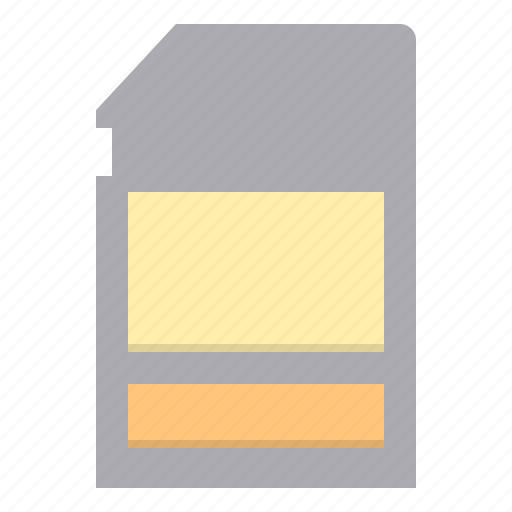 card, memory, photograph, technology icon