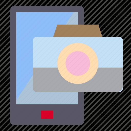 camera, mobile, photograph, technology icon