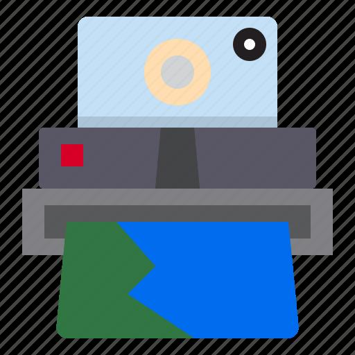 camera, photograph, polaroid, technology icon