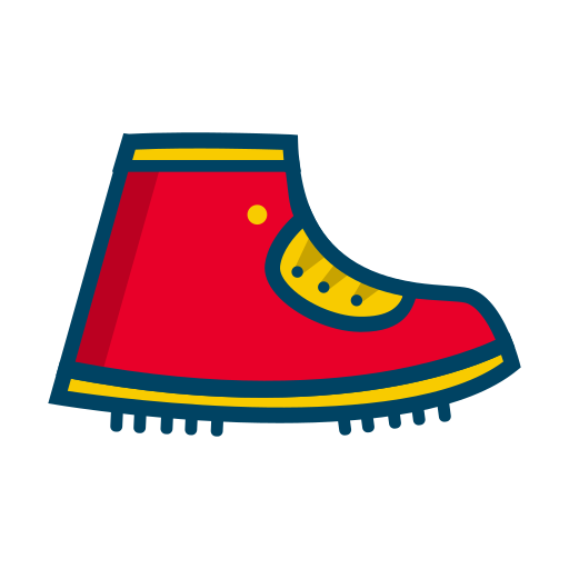 boot, shoes, tracking icon