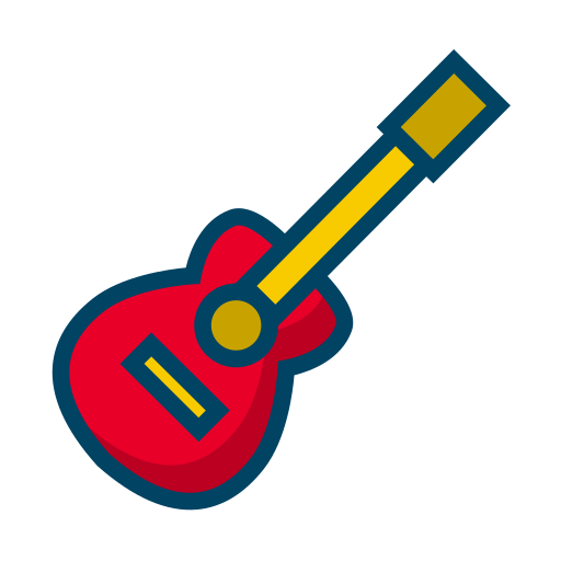 guitar, melody, music, relax icon