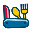 fork, jungle, knife, spoon, tool icon
