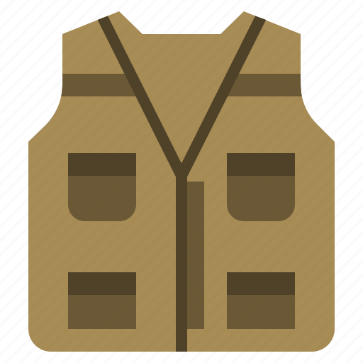 camping, fashion, jacket, life, preserver, security, vest icon
