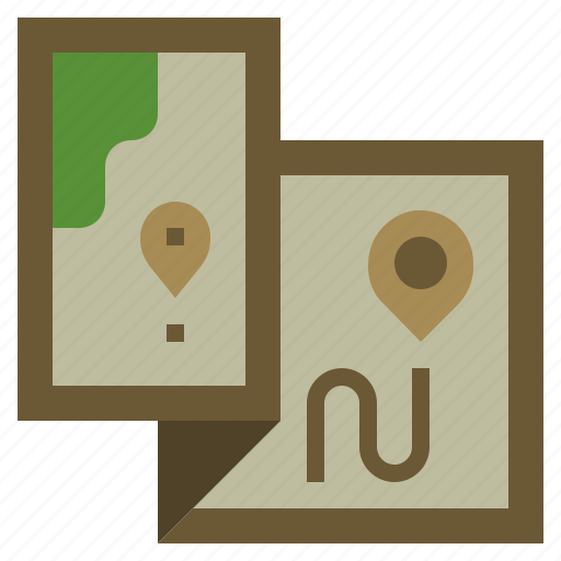 geography, interface, location, map, orientation, position, travel icon