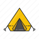 camp, camping, shelter, tent icon