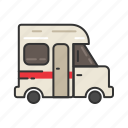 camp, camper, camping, car, trailer, van icon