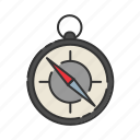 camping, compass, direction, hiking, tool icon