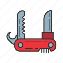 equipment, knife, penknife, pocket, tool icon