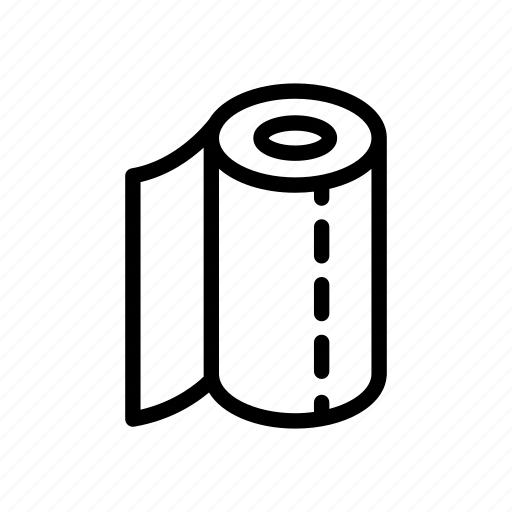 camp, clean, kitchen, paper, towel icon