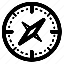 arrow, camping, compas, direction icon
